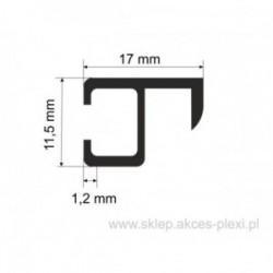 Profil aluminiowy wystawowy A-6212 11,5/17/1,2 mm-4mb anodowany