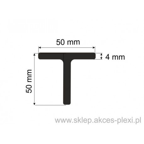 Profil aluminiowy teownik H87000  - 50x50x4mm- 4mb