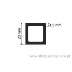 Profil aluminiowy rura kwadratowa - 20/1,5mm - 6 mb