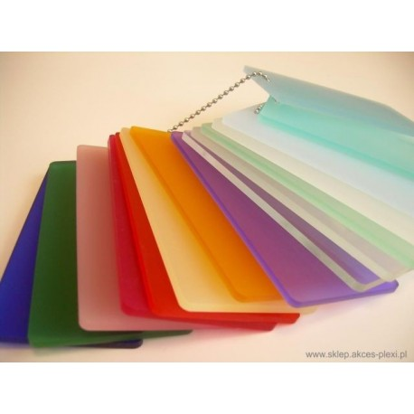 Płyta z PLEXI  mrożona kolorowa 5mm - 203x305 cm