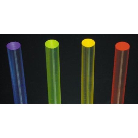 Pręt z PLEXI fluorescencyjny różne kolory 10mm - 2mb