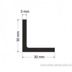 Profil aluminiowy - kątownik - 30x30x3mm - 6mb