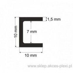 Profil aluminiowy - ceownik -10x10x1,5mm- 4mb