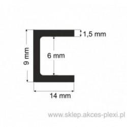 Profil aluminiowy - ceownik - 9x14x1,5mm- 4mb