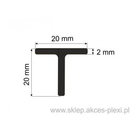 Profil aluminiowy teownik 85001 - 20x20x2mm- 4mb