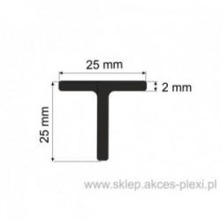 Profil aluminiowy teownik - 25x25x2mm- 4mb