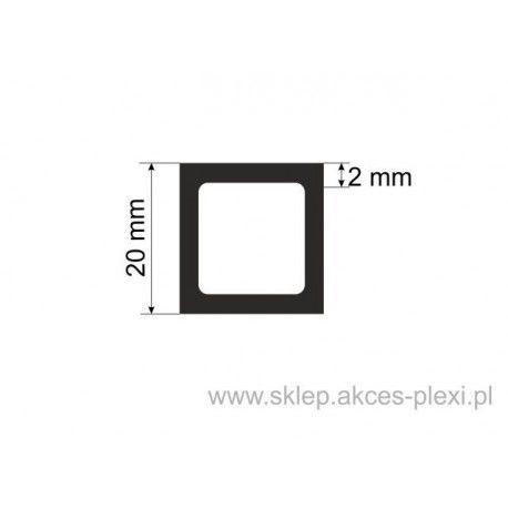 Profil aluminiowy rura kwadratowa - 20/2mm - 4 mb