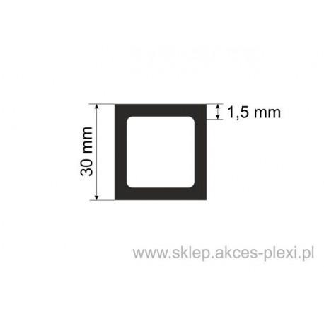 Profil aluminiowy rura kwadratowa - 30/1,5mm - 4 mb