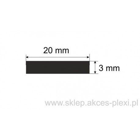 Profil aluminiowy płaskownik -20/3mm-4mb