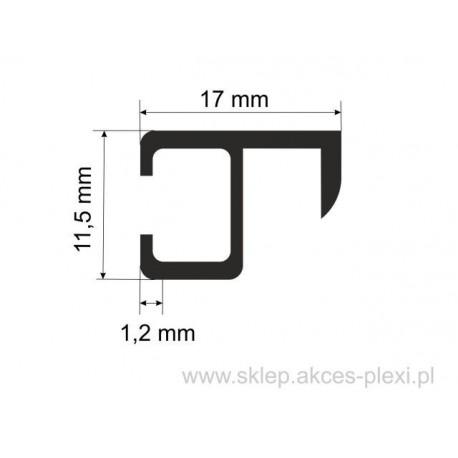 Profil aluminiowy wystawowy A-6212 11,5/17/1,2 mm-5mb