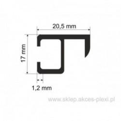 Profil aluminiowy wystawowy A-5604 17/20,5/1,2 mm- 5mb