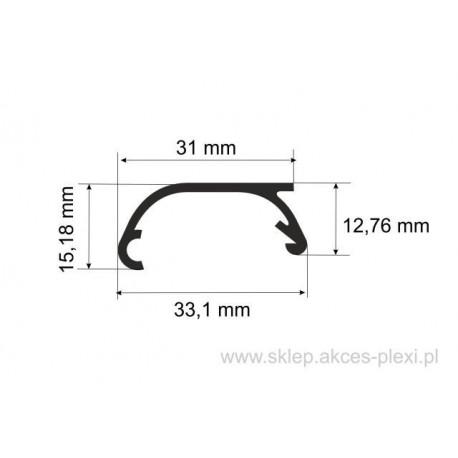 Profil aluminiowy wystawowy A-6074 33,1/31/15,18 mm- 4mb