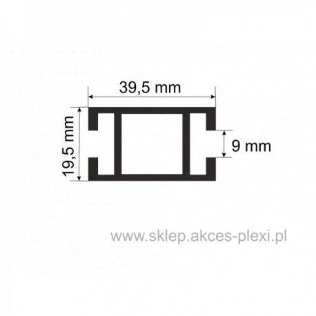 Profil aluminiowy wystawowy A-4858 39,5/19.5/9 mm- 5mb