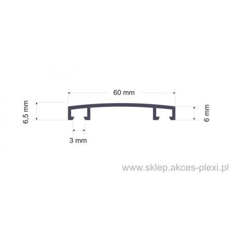 Profil aluminiowy górny 1555 60mm-6mb