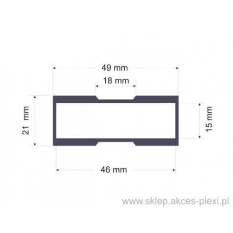 Profil aluminiowy konstrukcyjny   A -6203  50mm-6mb