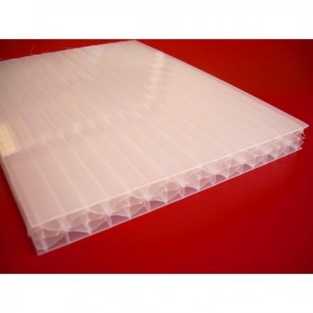 Płyta z poliwęglanu komorowego mleczna 16 mm- 210x600cm