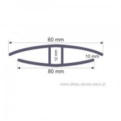 Profil łączący z poliwęglanu litego - H10 - 6mb