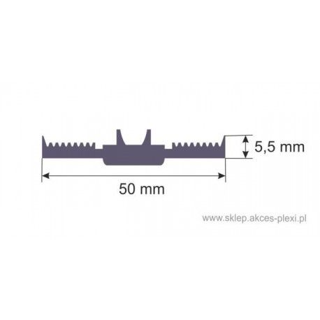 Uszczelka dolna samoprzylepna SD-13 50 mm- 1mb