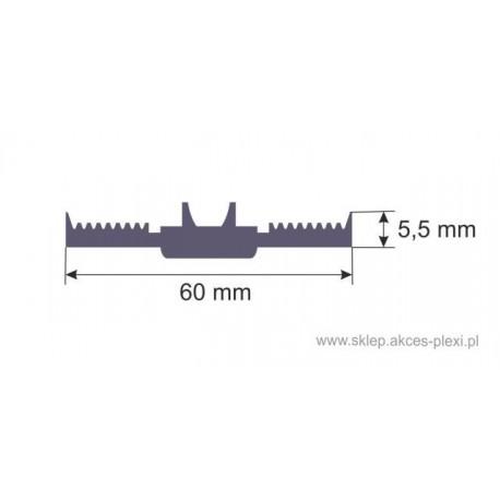 Uszczelka dolna samoprzylepna SD-12 60 mm- 1mb