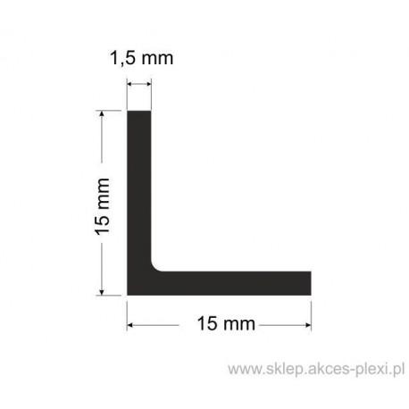 Profil aluminiowy - kątownik - 15x15x1,5mm - 4mb