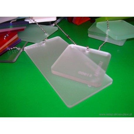 Płyta z PLEXI  jednostronnie mrożona bezbarwna 3 mm -  203x305 cm