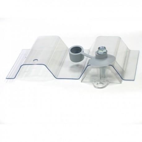 Płyta PET trapezowa bezbarwna - 107,5x300 cm