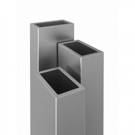 profil aluminiowy rura prostokątna - 20/13/1mm - 4mb