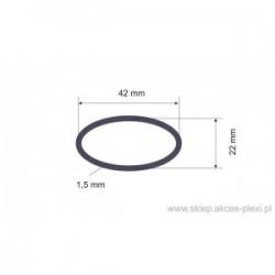 Profil aluminiowy - owal - 42x22x1,5 mm - 6 mb