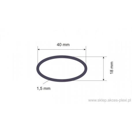 Profil aluminiowy - owal - 40x18x1,5 mm - 6,55 mb
