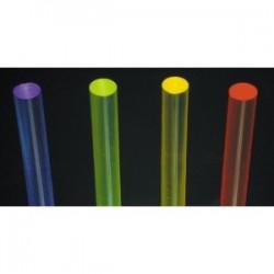 Pręt z PLEXI fluorescencyjny czerwony 5 mm - 2mb