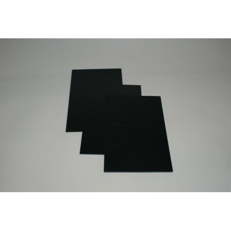 Płyta HIPS czarna 1mm- 100x200 cm mat/połysk