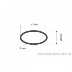 Profil aluminiowy - owal - 42x22x2 mm - 6 mb