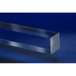 Pręt z PLEXI ekstrudowany bezbarwny kwadrat 25x25mm-2mb