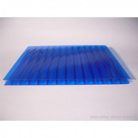 Płyta z poliwęglanu komorowego - niebieska 10 mm-210x700cm