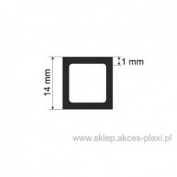 Profil aluminiowy rura kwadratowa - 14/1 mm - 5 mb