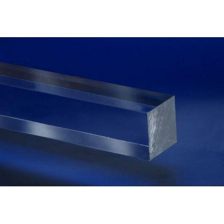 Pręt z PLEXI ekstrudowany bezbarwny kwadrat 25x25 mm -2mb