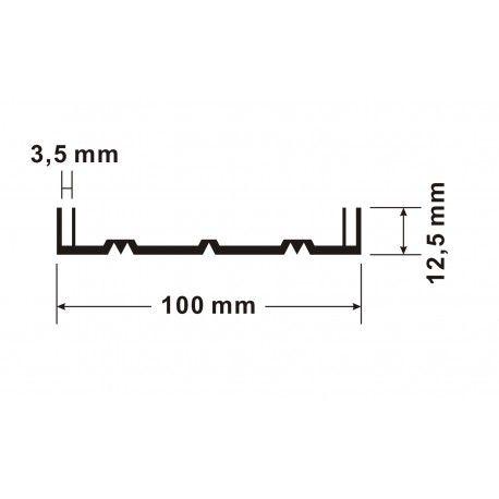 Profil aluminiowy - kasetonowy S- 73008 100/3,5 mm - 4 mb