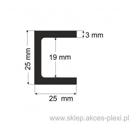 Profil aluminiowy - ceownik - 25x25x3 - 6mb