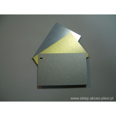 Płyta dibond biała/srebrna 150x305 cm - 3 mm