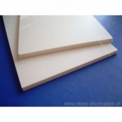 Płyta PCV spieniona biała ekonomiczna 4 mm- 205x305cm