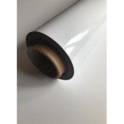 Folia magnetyczna biała z podkładem pvc 0,7mm - rolka 61 cm - 1 mb