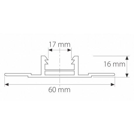 Profil z poliwęglanu zatrzaskowy HCP 207 - 600 cm
