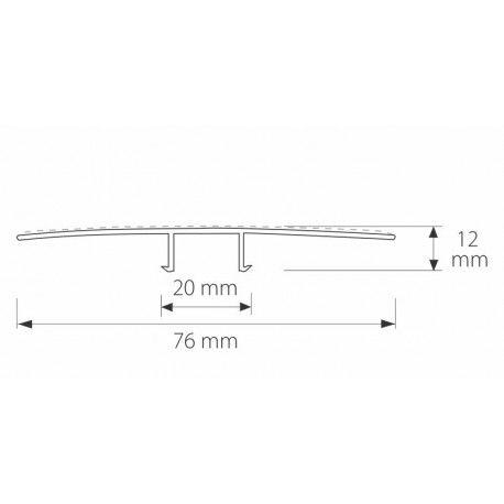 Profil z poliwęglanu zatrzaskowy HCP 211 - 600 cm