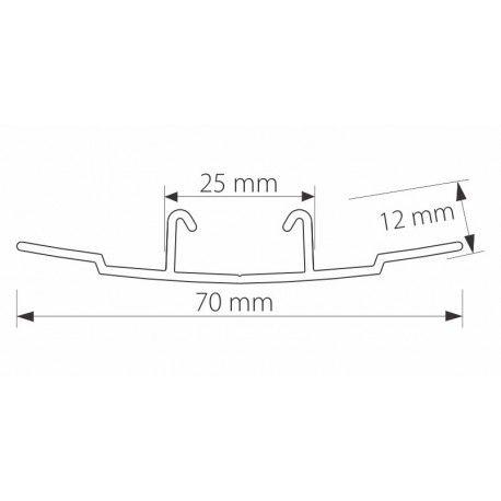 Profil z poliwęglanu łączący ECP 233 do płyt 8-10 mm - 600 cm