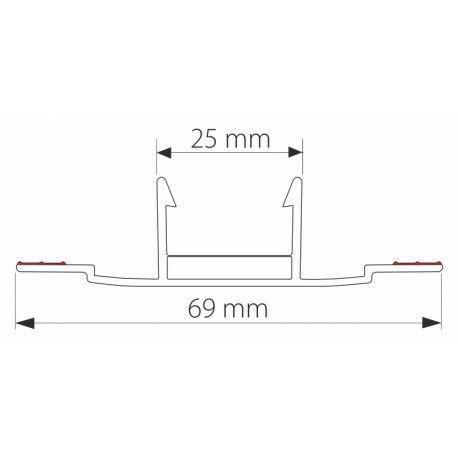 Profil z poliwęglanu łączący GCP 252 do płyt 8-10 mm - 600 cm